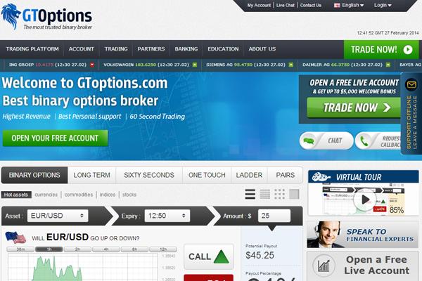GToptions screen shot
