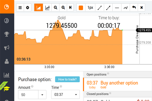 IQ Option screen shot