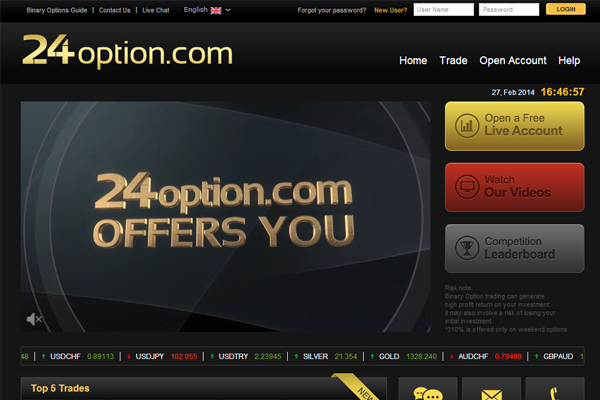 24 Option screen shot