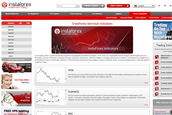 InstaForex Binary screen shot