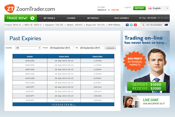 ZoomTrader screen shot