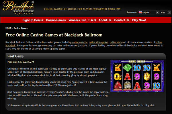 BlackJack Ballroom screen shot