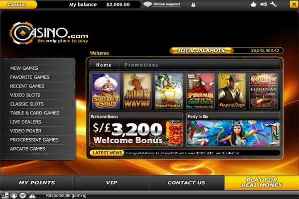 Casino.com screen shot