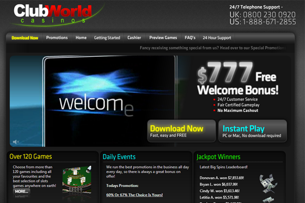 Club World screen shot