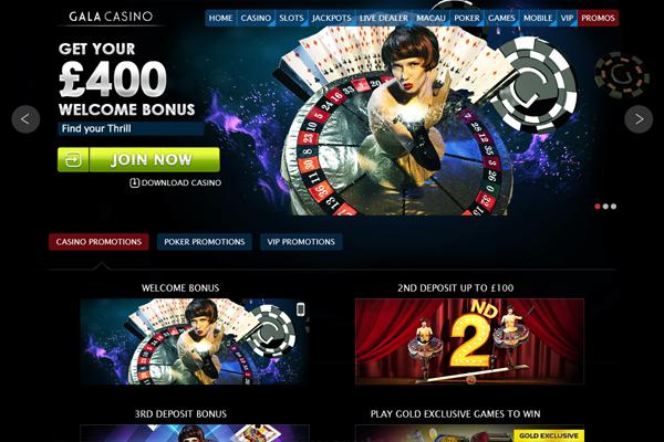 Gala Casino screen shot