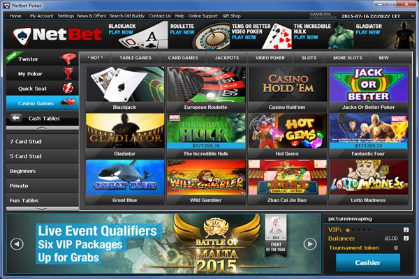 NetBet Casino screen shot