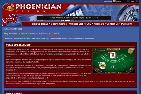 Phoenician Casino screen shot
