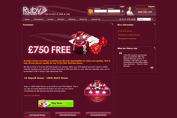Ruby Fortune screen shot