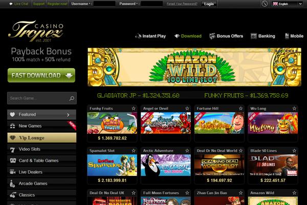 Casino Tropez screen shot