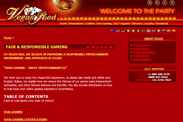 Vegas Red screen shot