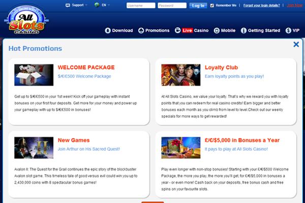All Slots Casino screen shot