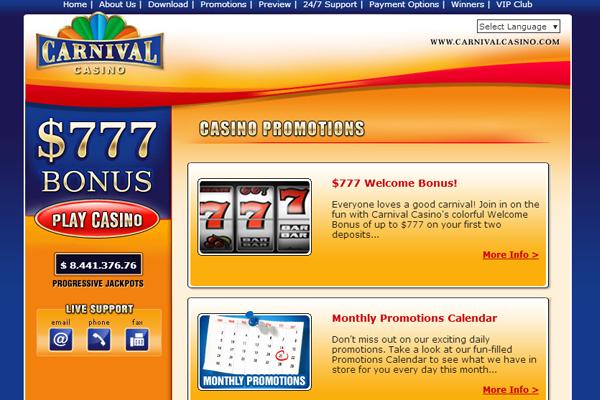 Carnival Casino screen shot