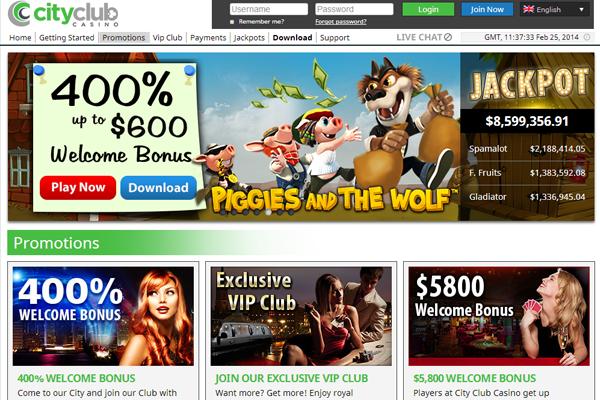 CityClub Casino screen shot