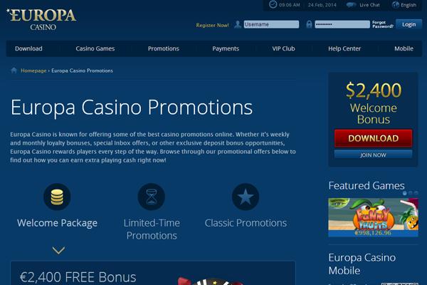 Europa Casino screen shot