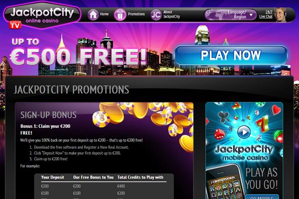 Jackpot City screen shot