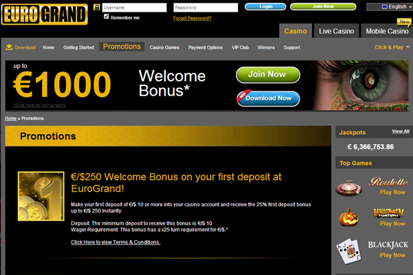 EuroGrand Casino screen shot