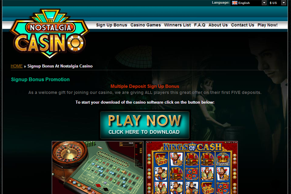 Nostalgia Casinos screen shot