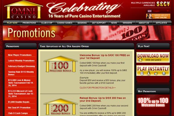 Omni Casino screen shot