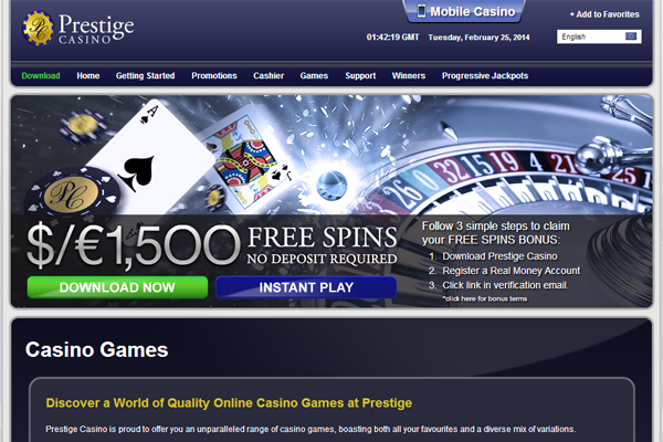 Prestige Casino screen shot