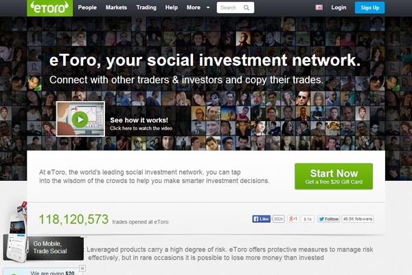 eToro screen shot
