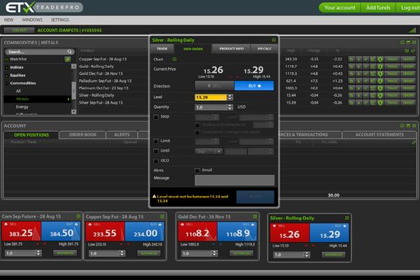 ETX Capital screen shot
