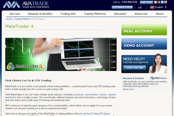 AvaTrade screen shot