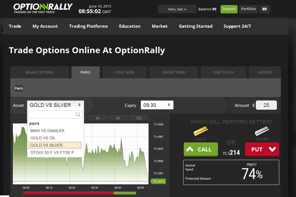 OptionRally screen shot