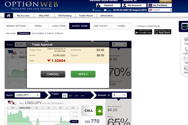 OptionWeb screen shot