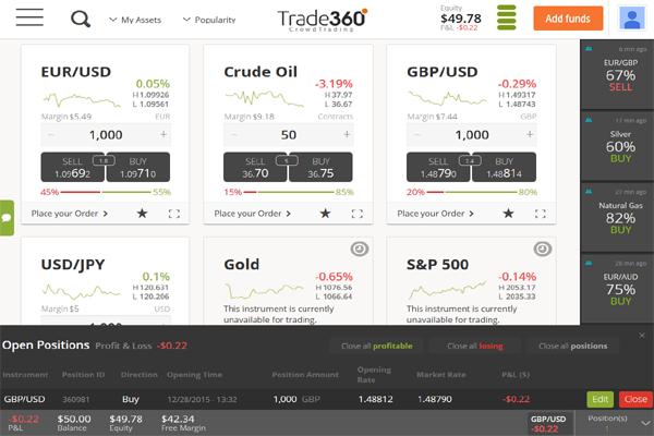 Trade360 screen shot