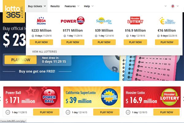 Lotto365 screen shot