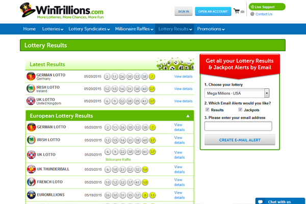 WinTrillions screen shot