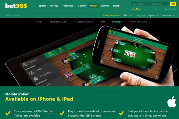 Bet 365 Poker screen shot