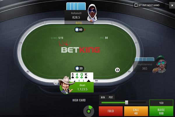 BetKing Poker screen shot