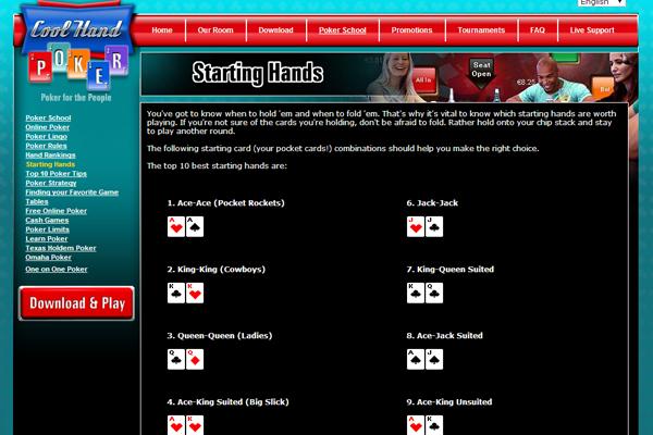 Cool Hand Poker screen shot