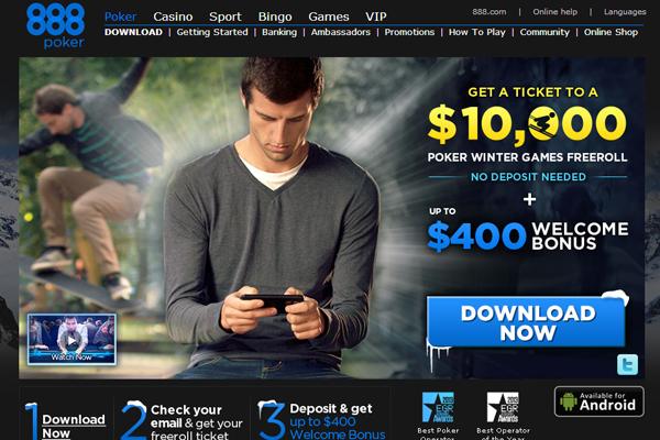 888 Poker screen shot
