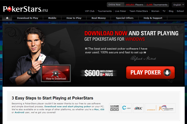 Poker Stars screen shot