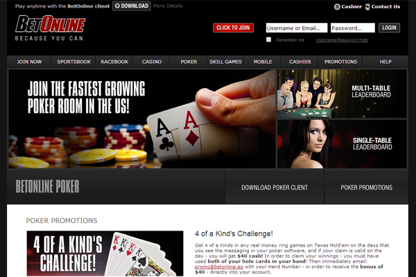 BetOnline Poker screen shot