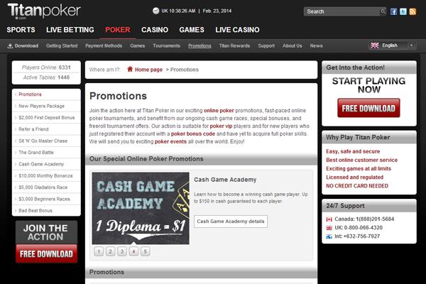Titan Poker screen shot