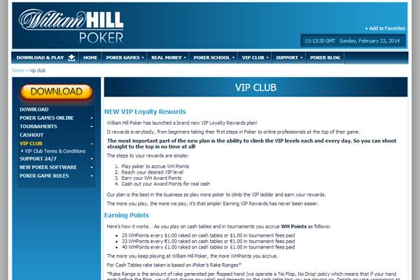William Hill Poker screen shot