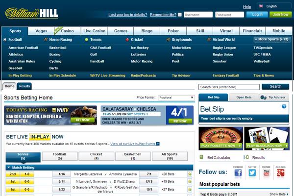 William Hill Sports screen shot