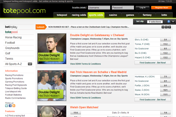 Tote Sport screen shot