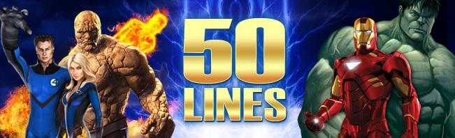 marvel 50 line slots